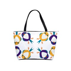 Pattern Circular Birds Shoulder Handbags