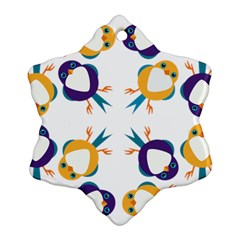 Pattern Circular Birds Snowflake Ornament (two Sides)
