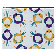 Pattern Circular Birds Cosmetic Bag (xxxl)