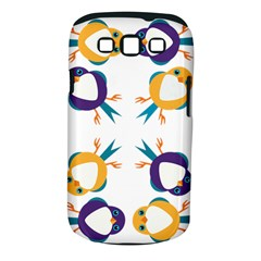 Pattern Circular Birds Samsung Galaxy S Iii Classic Hardshell Case (pc+silicone)