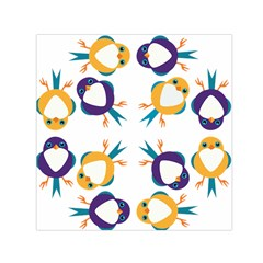 Pattern Circular Birds Small Satin Scarf (square)