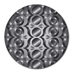 Metal Circle Background Ring Round Mousepads