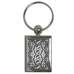Metal Circle Background Ring Key Chains (Rectangle)