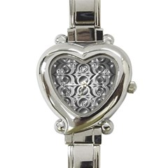 Metal Circle Background Ring Heart Italian Charm Watch