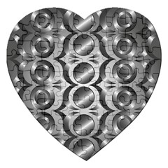 Metal Circle Background Ring Jigsaw Puzzle (heart)