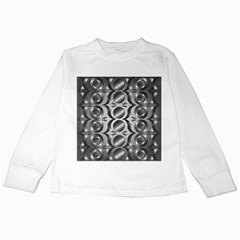 Metal Circle Background Ring Kids Long Sleeve T-Shirts