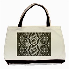 Metal Circle Background Ring Basic Tote Bag (Two Sides)