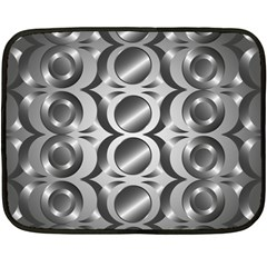 Metal Circle Background Ring Double Sided Fleece Blanket (mini)