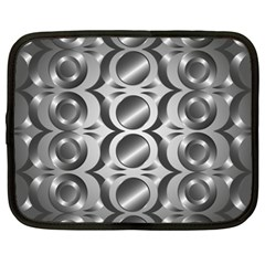 Metal Circle Background Ring Netbook Case (xxl)