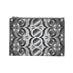 Metal Circle Background Ring Cosmetic Bag (Large)
