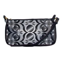 Metal Circle Background Ring Shoulder Clutch Bags