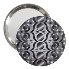 Metal Circle Background Ring 3  Handbag Mirrors