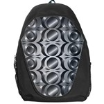 Metal Circle Background Ring Backpack Bag Front