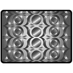 Metal Circle Background Ring Double Sided Fleece Blanket (Large)