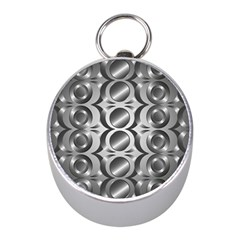 Metal Circle Background Ring Mini Silver Compasses