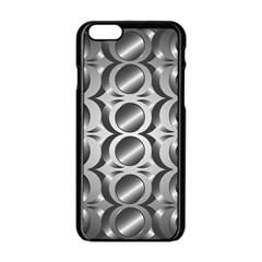 Metal Circle Background Ring Apple Iphone 6/6s Black Enamel Case