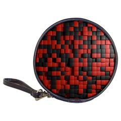 Black Red Tiles Checkerboard Classic 20 Cd Wallets