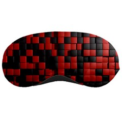 Black Red Tiles Checkerboard Sleeping Masks