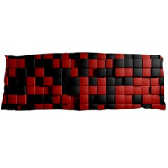 Black Red Tiles Checkerboard Body Pillow Case Dakimakura (two Sides)