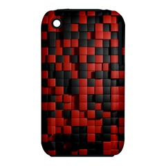 Black Red Tiles Checkerboard iPhone 3S/3GS