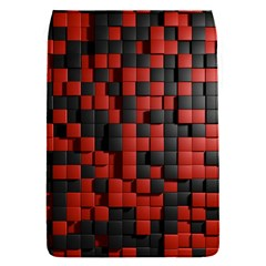 Black Red Tiles Checkerboard Flap Covers (S)