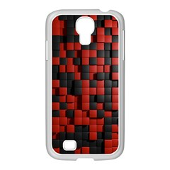 Black Red Tiles Checkerboard Samsung Galaxy S4 I9500/ I9505 Case (white)