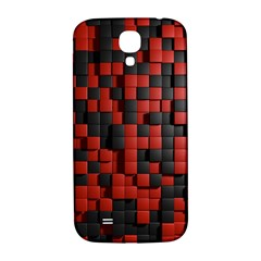 Black Red Tiles Checkerboard Samsung Galaxy S4 I9500/i9505  Hardshell Back Case