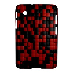 Black Red Tiles Checkerboard Samsung Galaxy Tab 2 (7 ) P3100 Hardshell Case