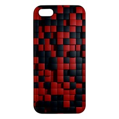 Black Red Tiles Checkerboard Iphone 5s/ Se Premium Hardshell Case