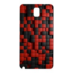 Black Red Tiles Checkerboard Samsung Galaxy Note 3 N9005 Hardshell Back Case