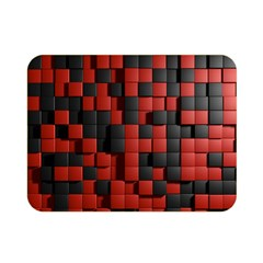 Black Red Tiles Checkerboard Double Sided Flano Blanket (Mini)