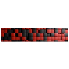 Black Red Tiles Checkerboard Flano Scarf (small)