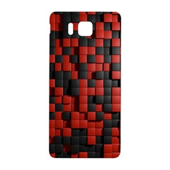 Black Red Tiles Checkerboard Samsung Galaxy Alpha Hardshell Back Case