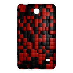 Black Red Tiles Checkerboard Samsung Galaxy Tab 4 (7 ) Hardshell Case