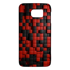 Black Red Tiles Checkerboard Galaxy S6