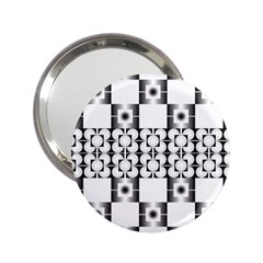 Pattern Background Texture Black 2 25  Handbag Mirrors