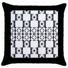 Pattern Background Texture Black Throw Pillow Case (Black)