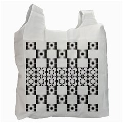 Pattern Background Texture Black Recycle Bag (One Side)