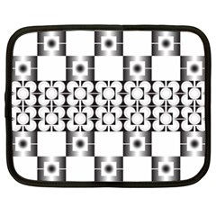 Pattern Background Texture Black Netbook Case (XXL)