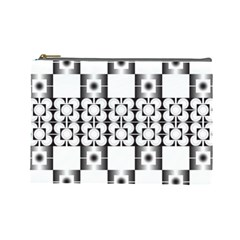 Pattern Background Texture Black Cosmetic Bag (Large)