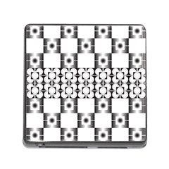 Pattern Background Texture Black Memory Card Reader (square)