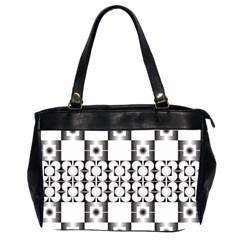 Pattern Background Texture Black Office Handbags (2 Sides)