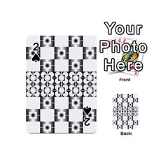 Pattern Background Texture Black Playing Cards 54 (mini)