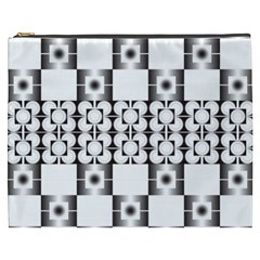 Pattern Background Texture Black Cosmetic Bag (XXXL)