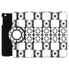 Pattern Background Texture Black Apple Ipad Mini Flip 360 Case