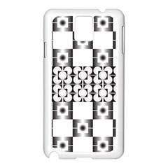 Pattern Background Texture Black Samsung Galaxy Note 3 N9005 Case (white)