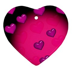 Background Heart Valentine S Day Ornament (Heart)