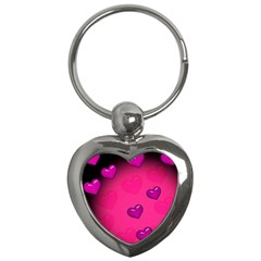 Background Heart Valentine S Day Key Chains (heart)