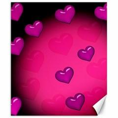 Background Heart Valentine S Day Canvas 20  x 24