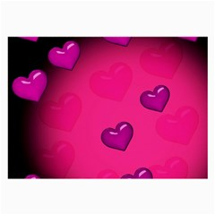 Background Heart Valentine S Day Large Glasses Cloth